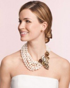 How to accessorize a strapless dress