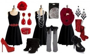 Diferent looks and combinations to accessorize a black dress