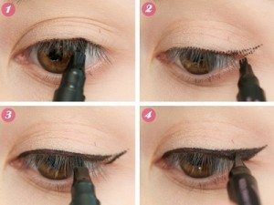 Easy ways to apply eyeliner