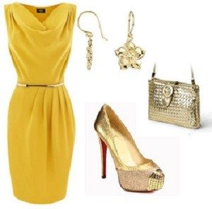 WHAT SHOES AND JEWELRY TO PAIR WITH A YELLOW DRESS