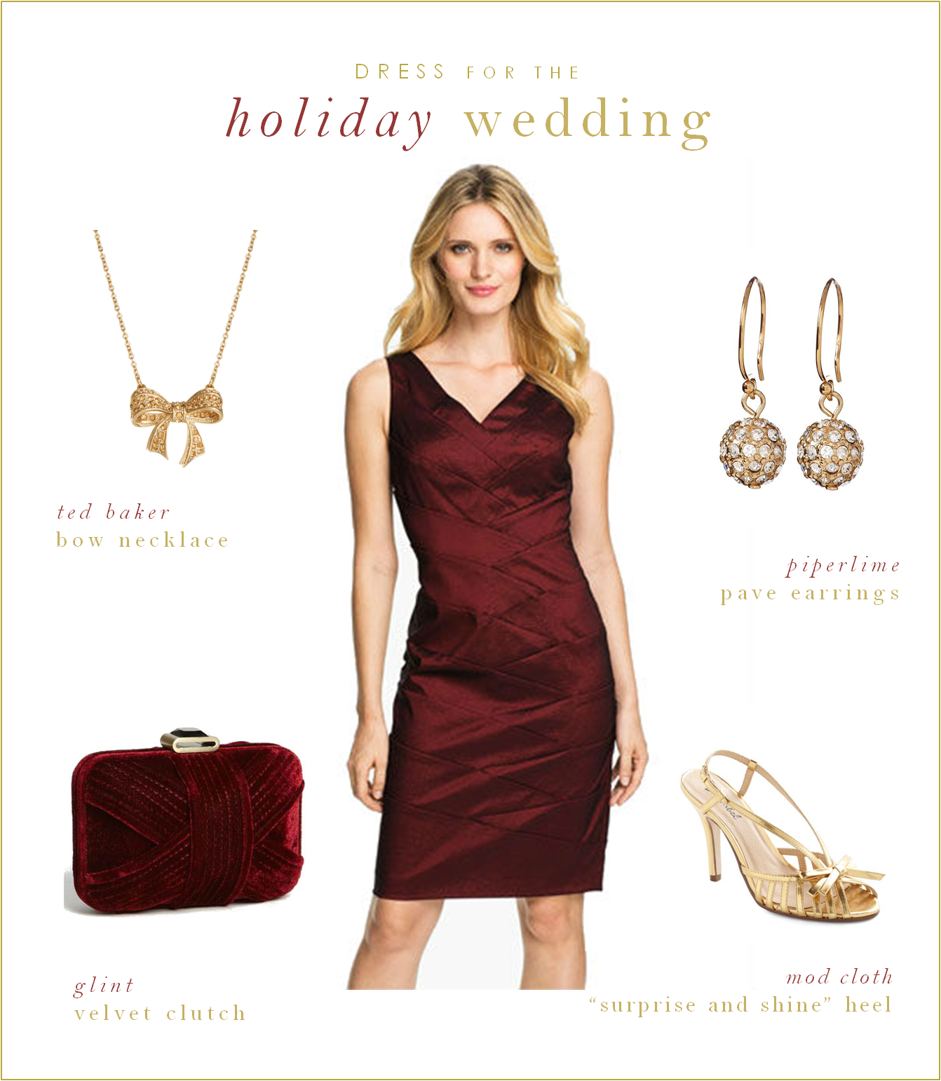 How To Accessorize A Maroon Color Dress
